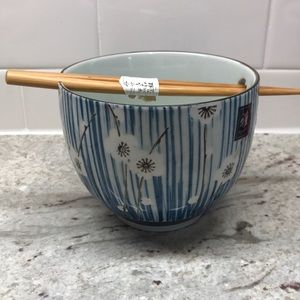 Japanese's bowl with chopstick